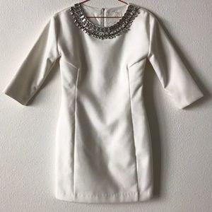 LINE & DOT white felt dress